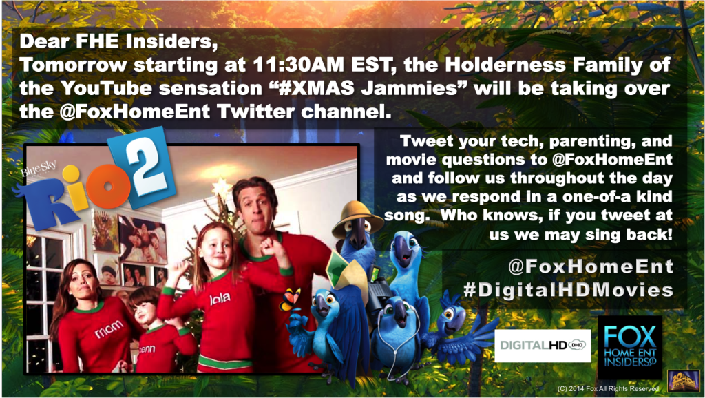 Tomorrow! Tweet with @FoxHomeEnt & Holderness Family ...